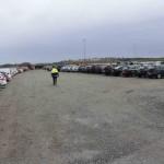 Parkering på blivande plattan Ivar